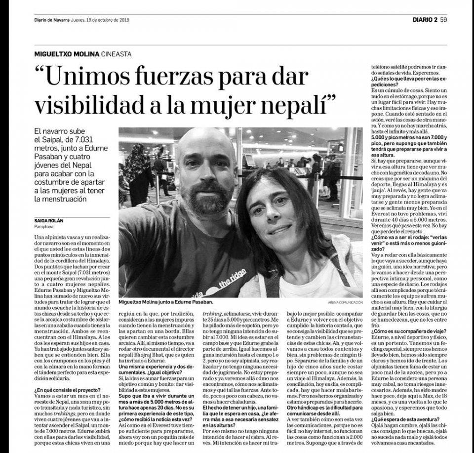 Entrevista Migueltxo Molina Diario de Noticias