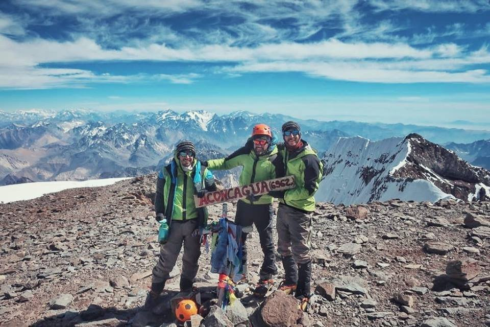Arena en la cima del Aconcagua